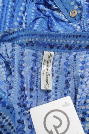 Γυναικείο πουκάμισο Perseption Concept, Μέγεθος L, Χρώμα Μπλέ, 95% πολυεστέρας, 5% ελαστάνη, Τιμή 15,46€