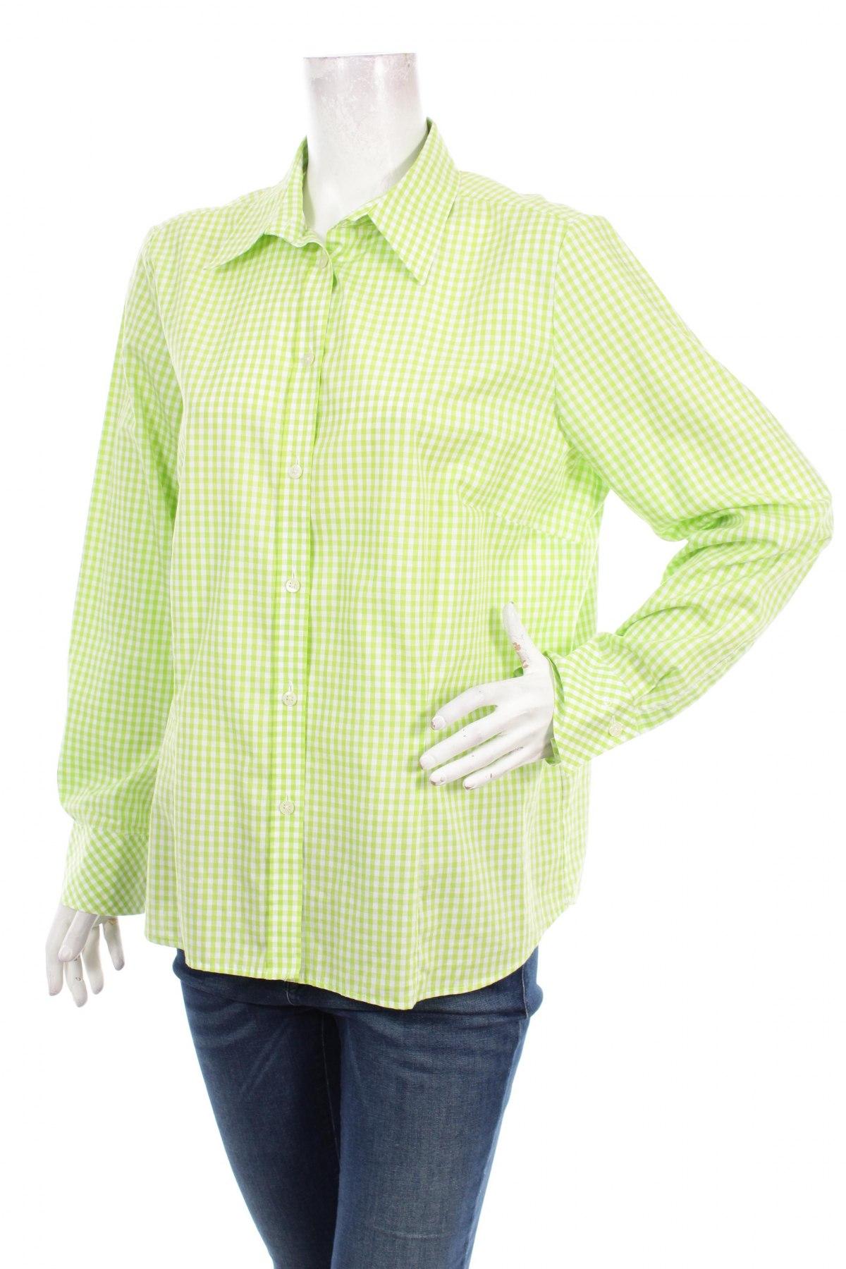 Γυναικείο πουκάμισο Eterna, Μέγεθος XL, Χρώμα Πράσινο, 100% βαμβάκι, Τιμή 16,70€