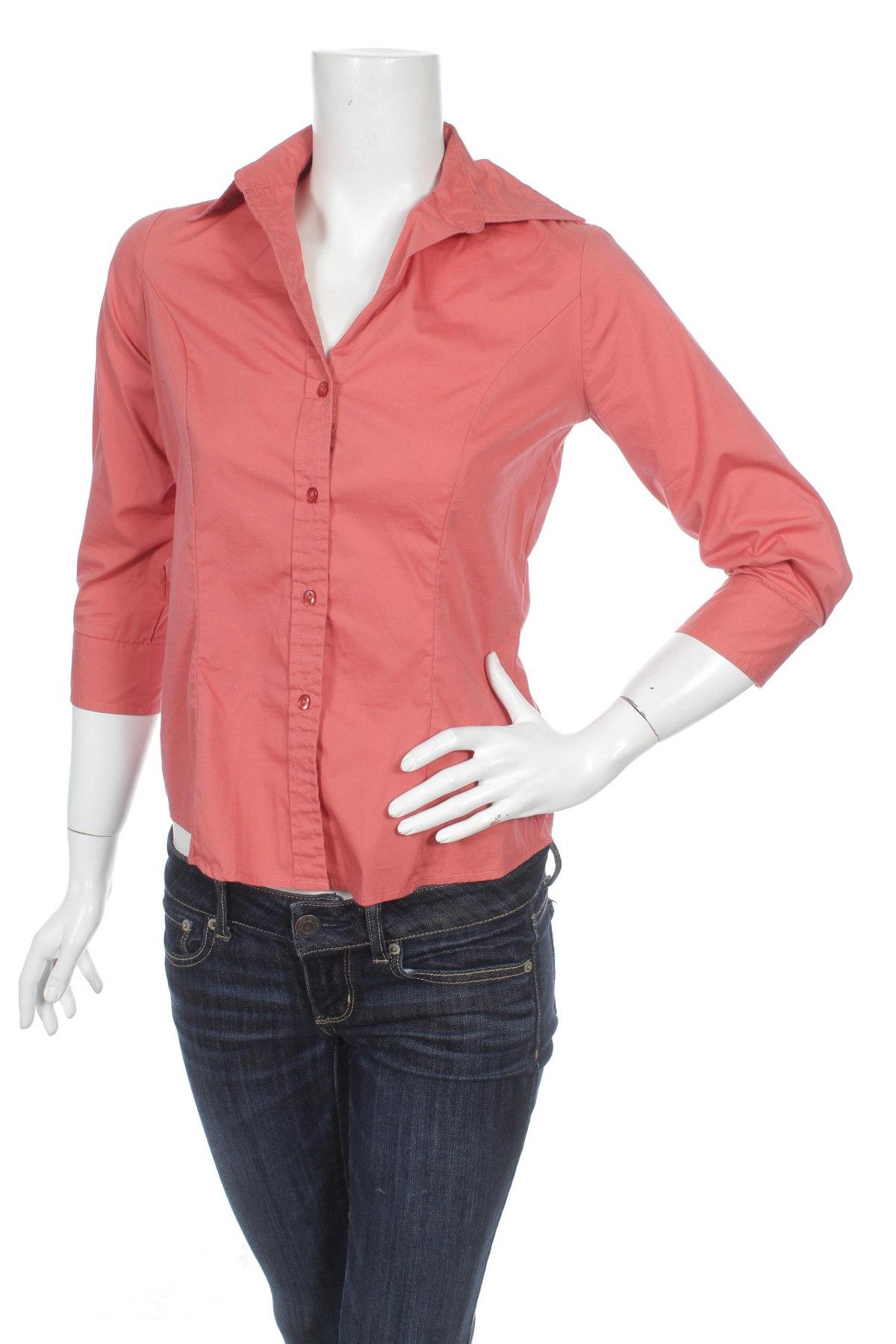 Γυναικείο πουκάμισο George, Μέγεθος XS, Χρώμα Πορτοκαλί, 72% βαμβάκι, 24% πολυαμίδη, 4% ελαστάνη, Τιμή 15,46€