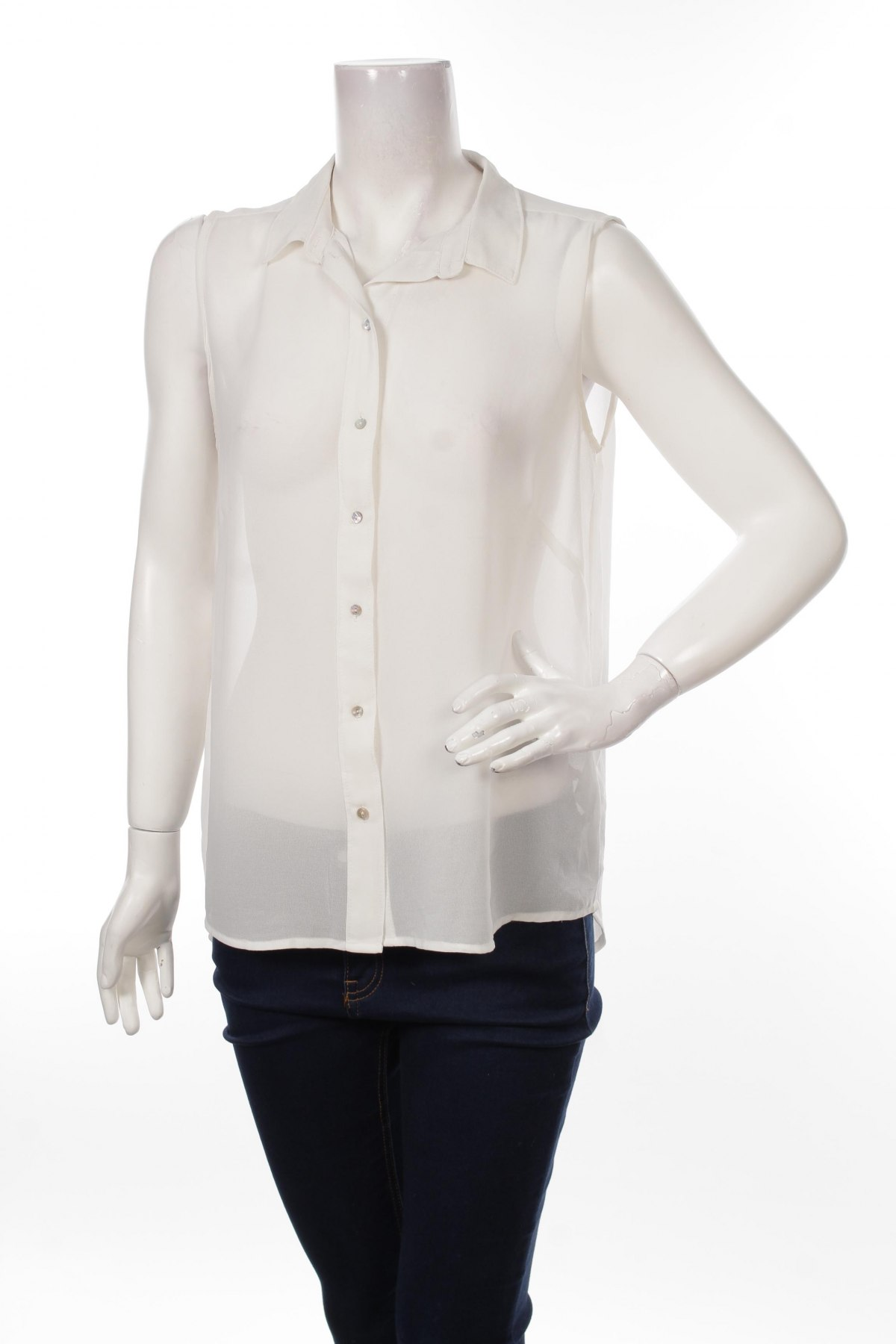 Γυναικείο πουκάμισο H&M, Μέγεθος M, Χρώμα Λευκό, Πολυεστέρας, Τιμή 12,99€