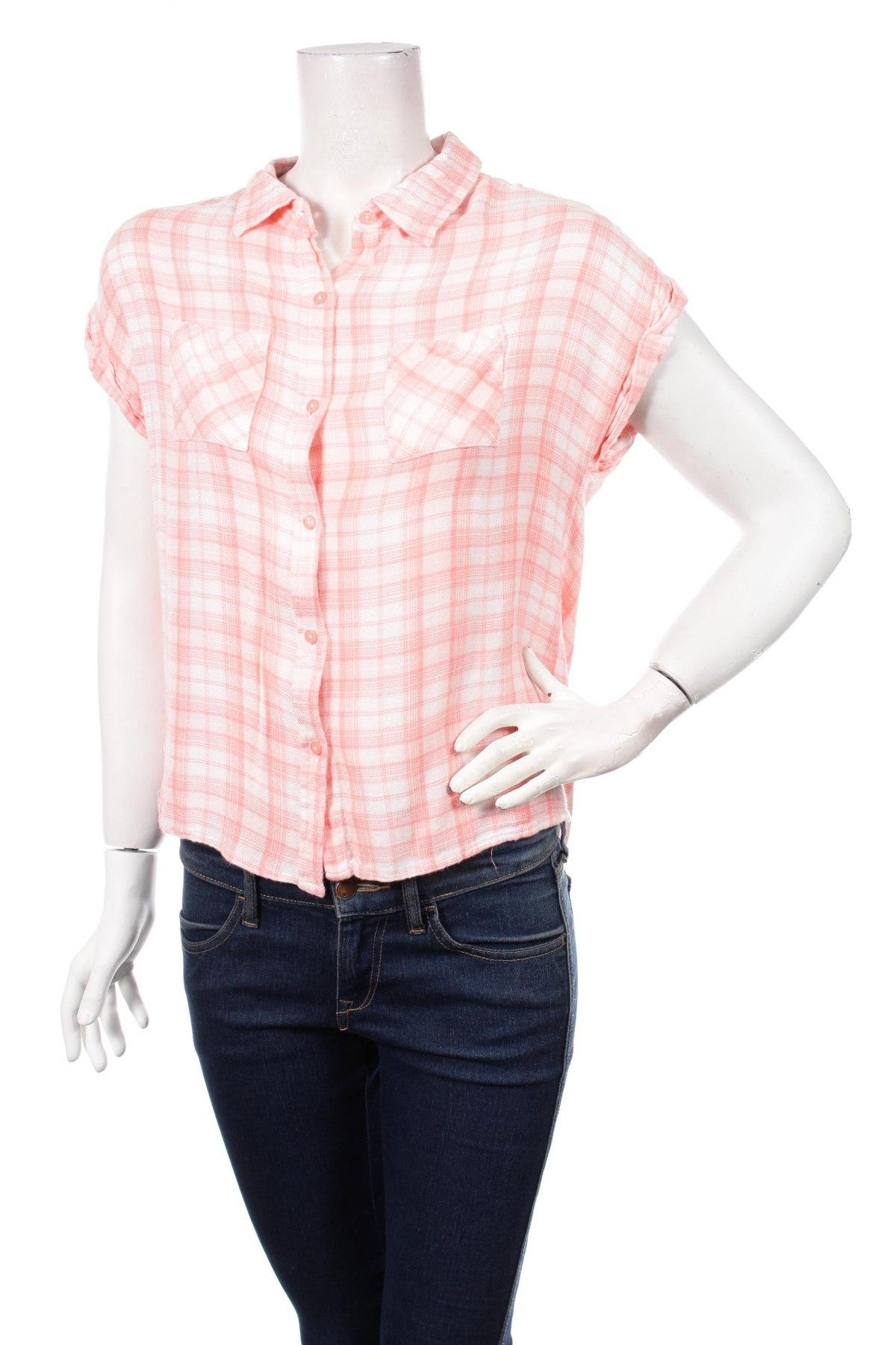 Γυναικείο πουκάμισο Japna, Μέγεθος M, Χρώμα Ρόζ , 100% βισκόζη, Τιμή 9,90€