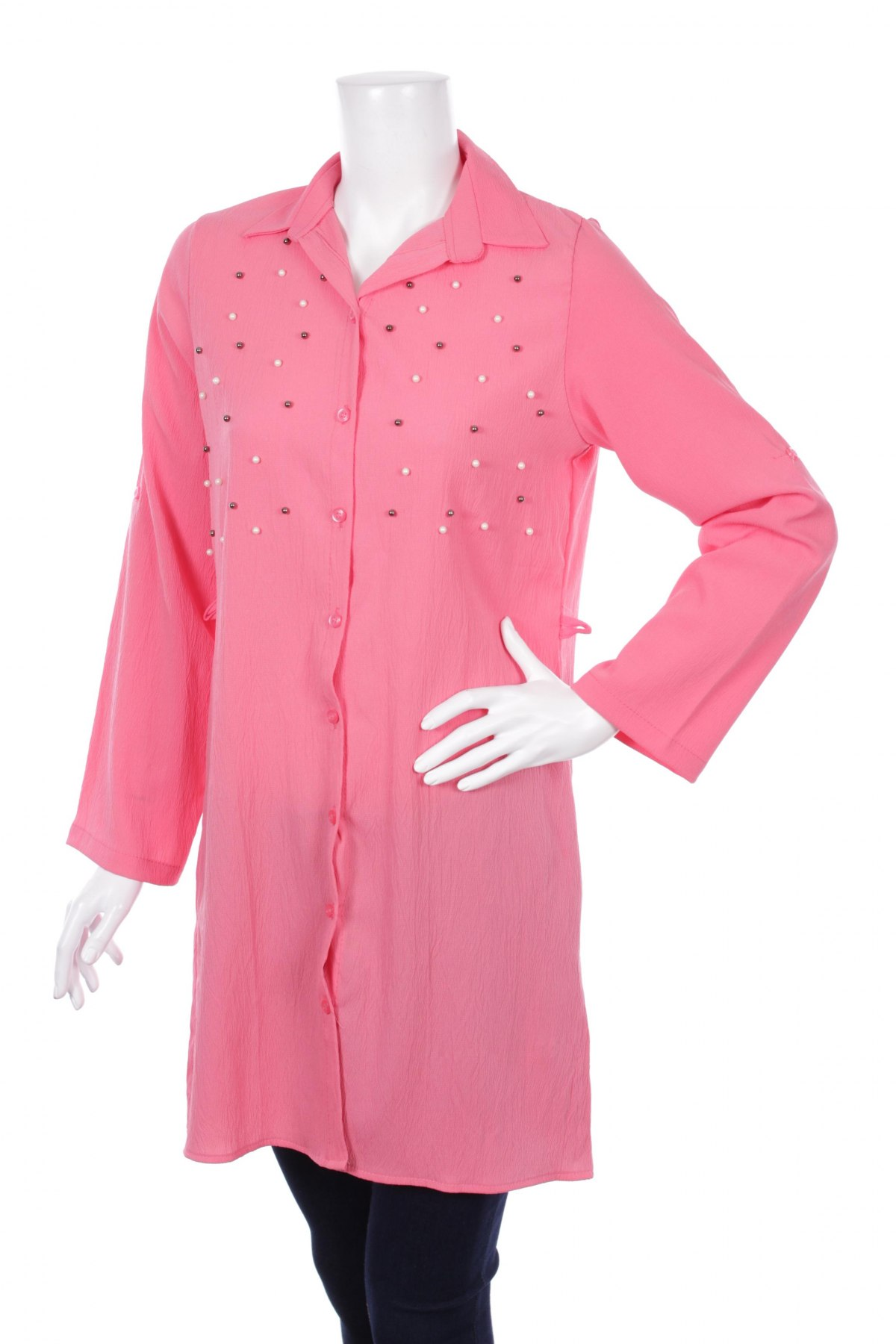 Γυναικείο πουκάμισο Red Queen, Μέγεθος S, Χρώμα Ρόζ , 50% βαμβάκι, 50% ελαστάνη, Τιμή 24,23€