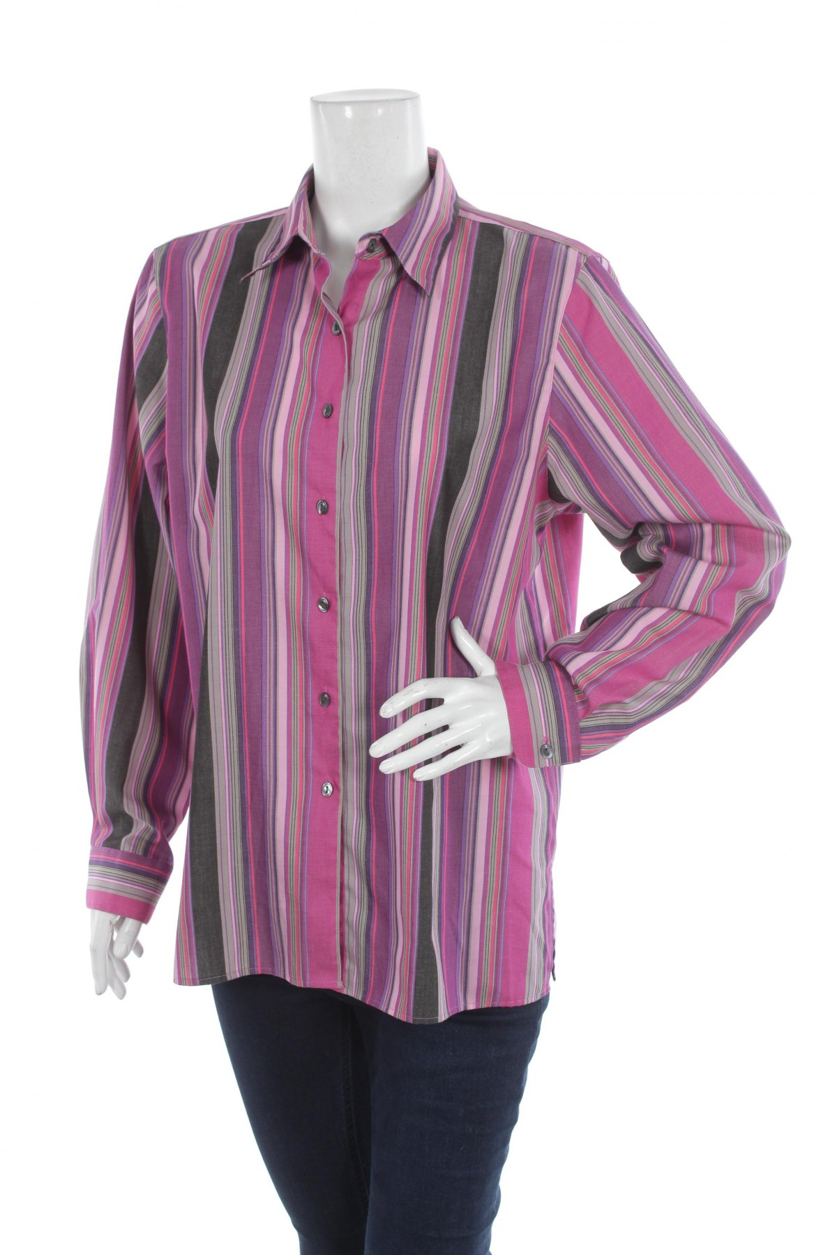 Γυναικείο πουκάμισο Wrinkle Free, Μέγεθος L, Χρώμα Πολύχρωμο, 60% βαμβάκι, 40% πολυεστέρας, Τιμή 18,56€