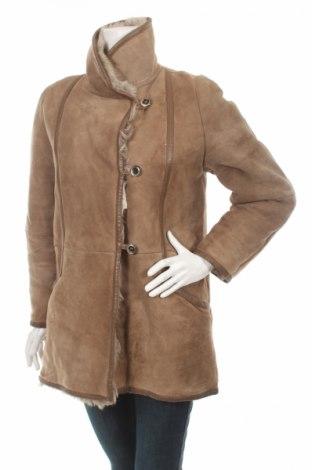 Δερμάτινο γυναικείο παλτό Shearling