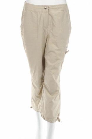 Дамски панталон Calcuel, Размер M, Цвят Бежов, 58% памук, 42% полиамид, Цена 7,48лв.
