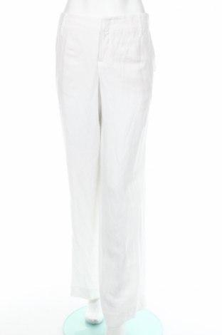 Дамски панталон Cinque, Размер L, Цвят Бял, 55% вискоза, 45% лен, Цена 147,75лв.