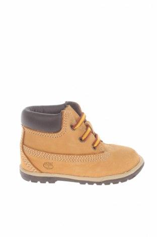 Детски обувки Timberland, Размер 18, Цвят Бежов, Естествена кожа, Цена 138,00лв.