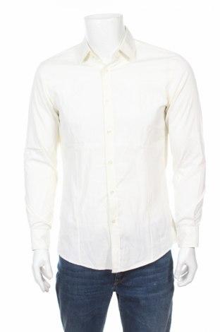 Мъжка риза Hugo Boss, Размер M, Цвят Екрю, 100% памук, Цена 18,90лв.