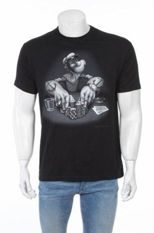 Мъжка тениска Popeye, Размер M, Цвят Черен, 100% памук, Цена 25,20лв.