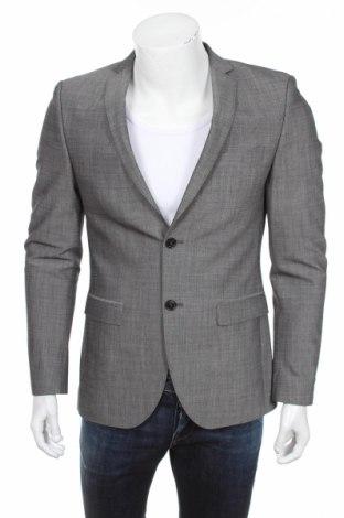 Мъжко сако S.Oliver, Размер S, Цвят Сив, 96% вълна, 4% еластан, Цена 38,00лв.