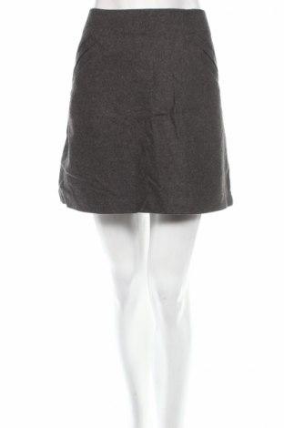 Φούστα H&M, Μέγεθος L, Χρώμα Γκρί, 50% μαλλί, 40% βισκόζη, 10% πολυεστέρας, Τιμή 4,95€
