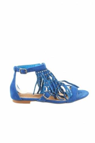 Sandale Ella Cruz, Mărime 37, Culoare Albastru, Textil, velur natural, Preț 68,15 Lei