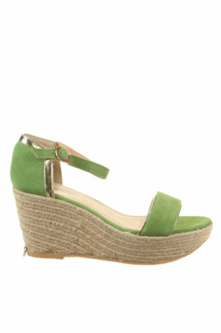 Sandale Pier One, Mărime 39, Culoare Verde, Velur natural, Preț 71,85 Lei