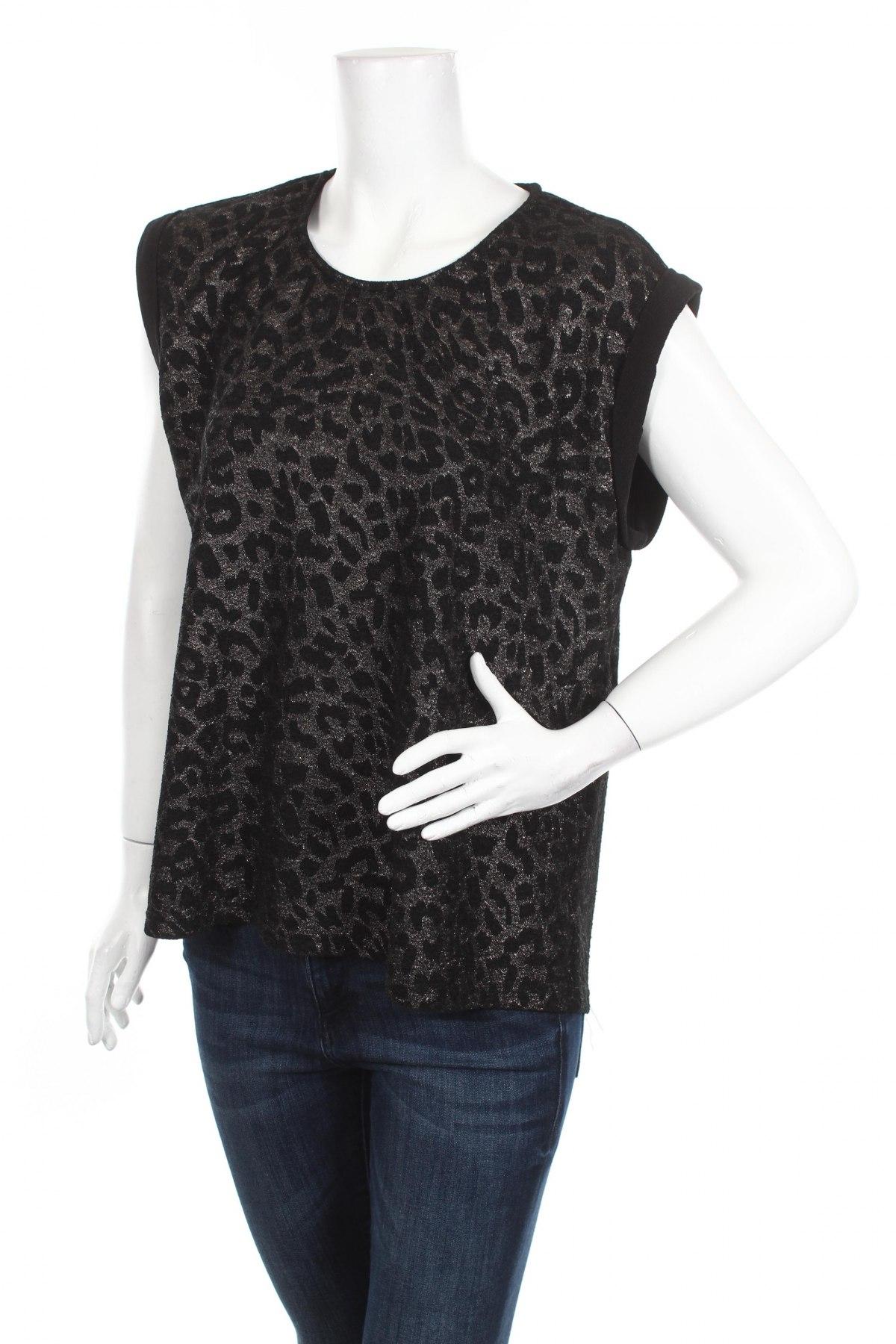 Дамска блуза Cha Cha, Размер L, Цвят Черен, 5% еластан, 95% полиестер, Цена 16,00лв.