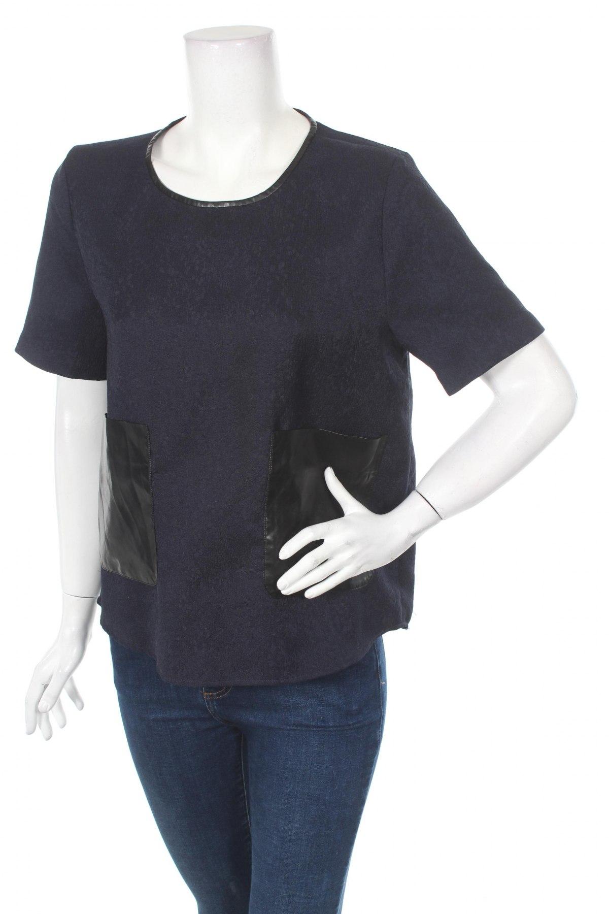 Дамска блуза W118 By Walter Baker, Размер M, Цвят Син, Текстил, еко кожа, Цена 34,00лв.