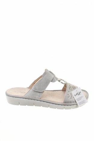 Papuci de casă Jane Klain, Mărime 39, Culoare Argintiu, Piele ecologică, Preț 99,89 Lei