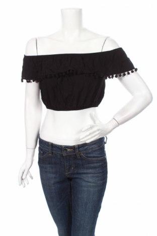 Дамска блуза Topshop, Размер M, Цвят Черен, Вискоза, Цена 20,79лв.