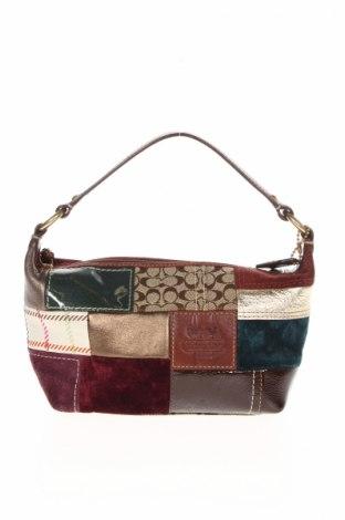 Дамска чанта Coach, Цвят Многоцветен, Естествена кожа, естествен велур, текстил, Цена 43,07лв.