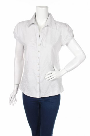 Дамска риза Attrattivo, Размер L, Цвят Сив, 65% памук, 32% полиестер, 3% еластан, Цена 4,99лв.