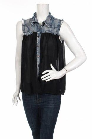 Dámska košeľa  Azaka, Veľkosť L, Farba Čierna, 80% polyester, 20% bavlna, Cena  4,31€