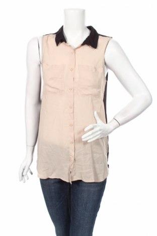 Γυναικείο πουκάμισο H&M Divided, Μέγεθος L, Χρώμα  Μπέζ, Πολυεστέρας, Τιμή 3,86€