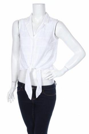 Дамска риза Lc Waikiki, Размер M, Цвят Бял, Памук, Цена 16,07лв.