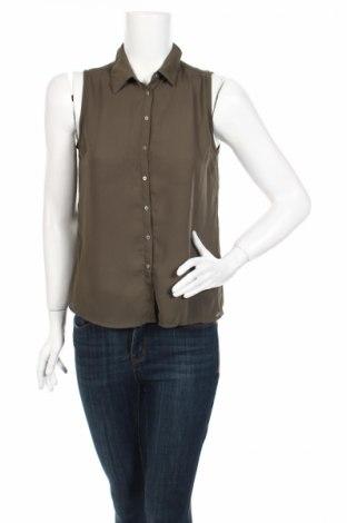 Γυναικείο πουκάμισο Tally Weijl, Μέγεθος S, Χρώμα Πράσινο, Πολυεστέρας, Τιμή 3,64€