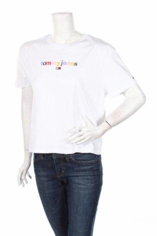 Dámske tričko Tommy Hilfiger, Veľkosť L, Farba Biela, 55% polyester, 45% bavlna, Cena  22,94€