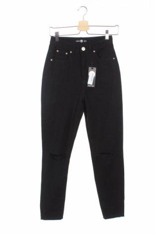 Dámské džíny  Boohoo, Rozměr XS, Barva Černá, 95% bavlna, 5% elastan, Cena  264,00Kč