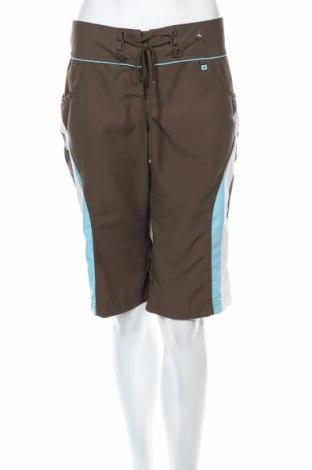 Γυναικείο κοντό παντελόνι Adidas, Μέγεθος L, Χρώμα Καφέ, Πολυεστέρας, Τιμή 6,50€