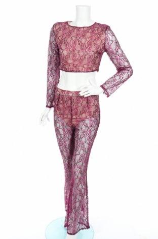 Дамски комплект Boohoo, Размер M, Цвят Лилав, 80% памук, 20% полиестер, Цена 7,80лв.