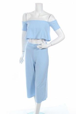 Дамски комплект Boohoo, Размер M, Цвят Син, 95% полиестер, 5% еластан, Цена 8,10лв.