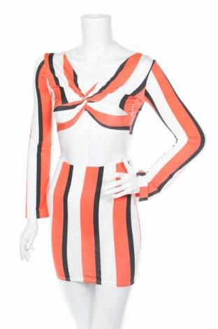Дамски костюм Boohoo, Размер XXS, Цвят Многоцветен, 95% полиестер, 5% еластан, Цена 37,40лв.