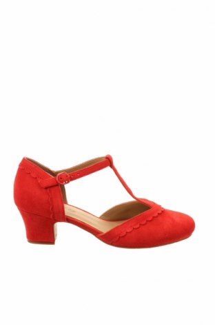 Γυναικεία παπούτσια Hotter, Μέγεθος 38, Χρώμα Κόκκινο, Φυσικό σουέτ, Τιμή 31,75€