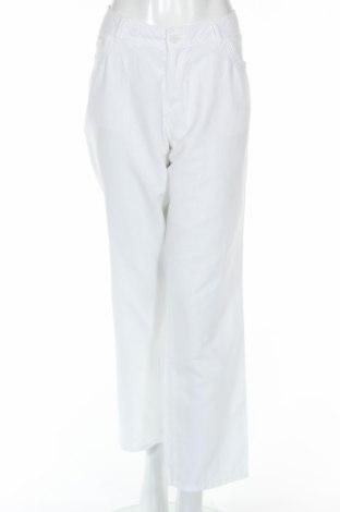 Дамски панталон Charles Vogele, Размер L, Цвят Бял, 55% лен, 45% памук, Цена 5,78лв.