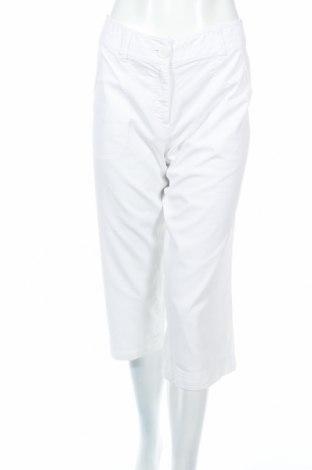 Дамски панталон H&M, Размер M, Цвят Бял, Памук, Цена 8,94лв.
