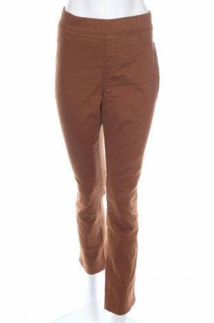 Дамски панталон Lc Waikiki, Размер L, Цвят Кафяв, 72% памук, 25% полиестер, 3% еластан, Цена 20,53лв.