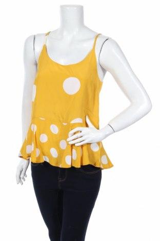 Γυναικείο αμάνικο μπλουζάκι River Island, Μέγεθος S, Χρώμα Κίτρινο, Βισκόζη, Τιμή 2,47€