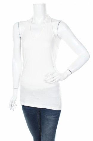 Γυναικείο αμάνικο μπλουζάκι Soya Concept, Μέγεθος S, Χρώμα Εκρού, 58% βαμβάκι, 36% πολυεστέρας, 6% ελαστάνη, Τιμή 6,00€