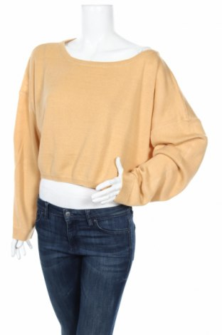 Дамски пуловер Nasty Gal, Размер M, Цвят Бежов, Акрил, Цена 12,60лв.