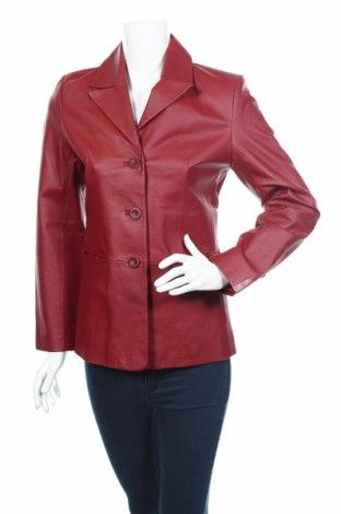 Γυναικείο δερμάτινο σακάκι, Μέγεθος M, Χρώμα Κόκκινο, Γνήσιο δέρμα, Τιμή 27,01€