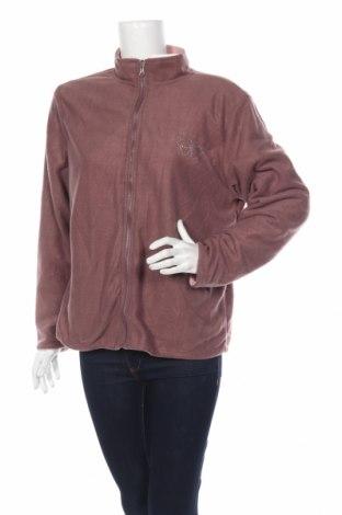 Дамско поларено горнище Anne De Lancay, Размер L, Цвят Розов, Полиестер, Цена 18,20лв.