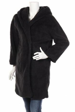 Дамско поларено палто Boohoo, Размер M, Цвят Черен, Полиестер, Цена 31,16лв.