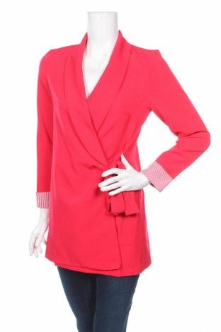 Sacou de femei Boohoo, Mărime S, Culoare Roșu, 89% poliester, 11% elastan, Preț 92,37 Lei