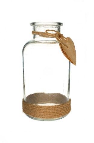 Декоративно шише, Цвят Бял, Стъкло, Цена 19,60лв.