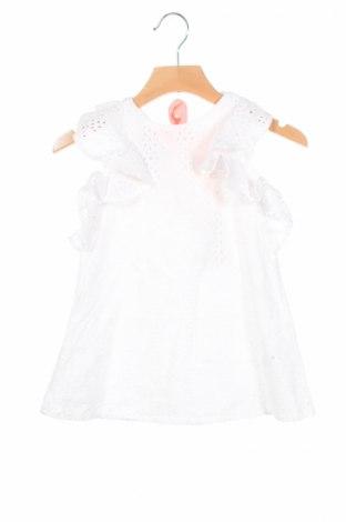 Детска рокля River Island, Размер 9-12m/ 74-80 см, Цвят Бял, 100% памук, Цена 22,10лв.