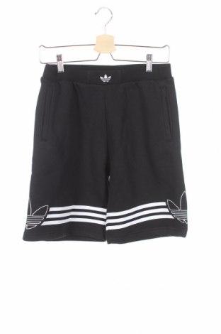 Παιδικό κοντό παντελόνι Adidas Originals, Μέγεθος 12-13y/ 158-164 εκ., Χρώμα Μαύρο, 70% βαμβάκι, 30% πολυεστέρας, Τιμή 17,68€