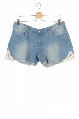Pantaloni scurți de copii Stop+Go, Mărime 15-18y/ 170-176 cm, Culoare Albastru, 65% bumbac, 20% poliester, 14% viscoză, 1% elastan, Preț 18,24 Lei