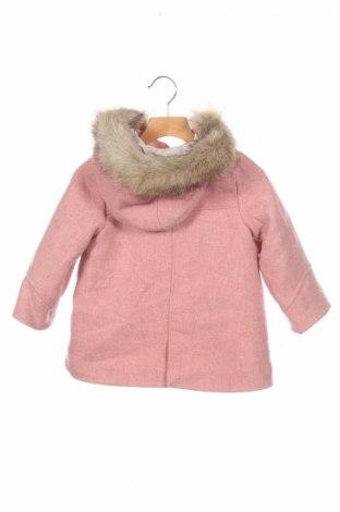 Детско палто Zara, Размер 2-3y/ 98-104 см, Цвят Розов, 41% вълна, 23% акрил, 19% полиестер, 16% полиамид, 1% други нишки, Цена 48,00лв.