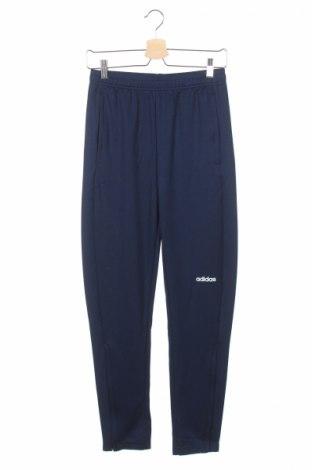 Pantaloni trening de copii Adidas, Mărime 12-13y/ 158-164 cm, Culoare Albastru, Poliester, Preț 61,58 Lei